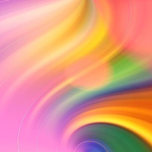 Pink, Yellow, orange, red, green, blue and purple swirled together