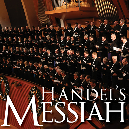 The Kansas City Symphony Chorus on stage in Helzberg Hall performing Handel's Messiah